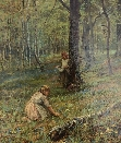 Picking Flowers in the Forest.E.A.Waterlow