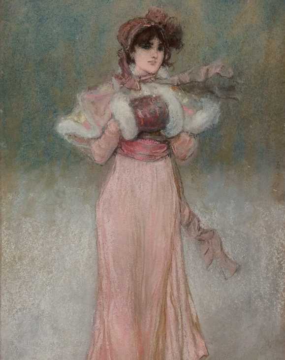 Young Beauty in Pink.G.H.Boughton