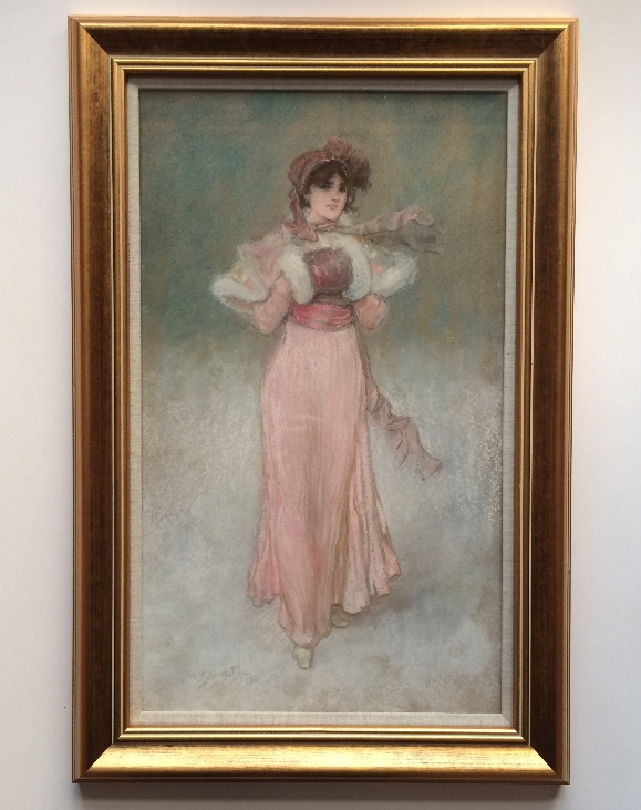 Young Beauty in Pink.Frame.G.H.Boughton