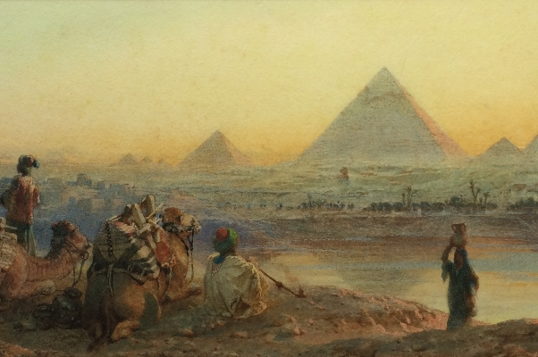 The Pyramids of Geezeh.Centre.Carl Haag.