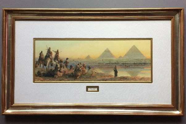 The Pyramids of Geezeh.Frame.Carl Haag.