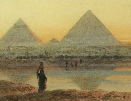The Pyramids of Geezeh.Right.Carl Haag.