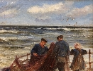 Fishing folf preparing their nets.Robert Jobling