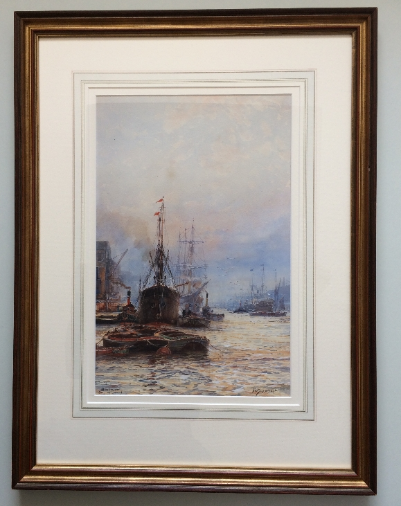 Off Rotherhithe.Frame.F.W.Scarbrough.