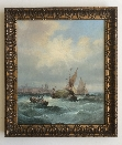 Rough Weather off Sheerness.Frame.J.W.Thornley.1