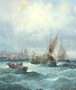 Rough Weather off Sheerness.J.W.Thornley.1