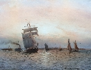 Shipping off the Mouth of the River Tyne at Sunset.new.WTN.Boyce