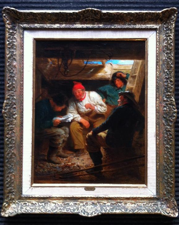 Charles Robert Leslie - Sailors in the hold frame