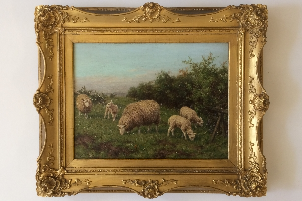 Sheep Grazing.Frame.J.Dixon Clark