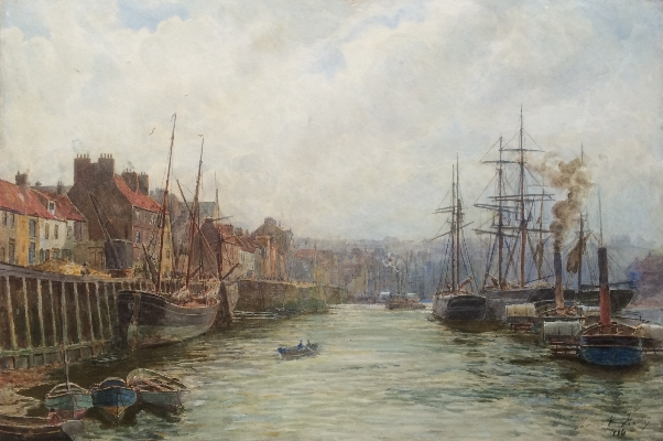 Thomas M. Hemy. Boats at Whitby.