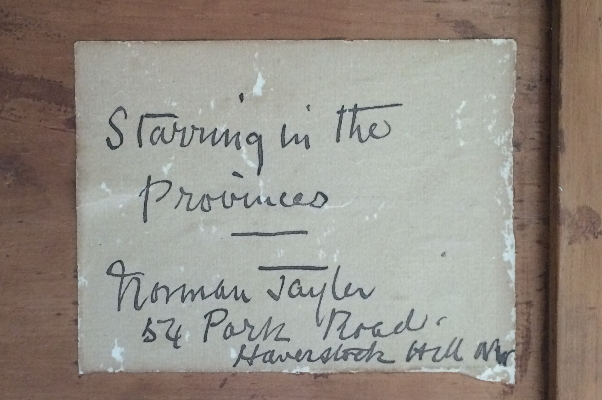 Starring in the Provinces.N.Tayler.Label.
