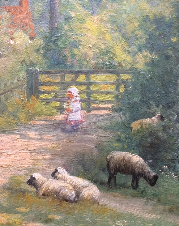 Summer.Surrey Lane.Sheep.A.F.DeBreanski.