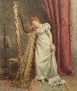 The Young Harpist.G.G.Kilburne.
