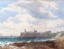 Edward Duncan.Tynemouth Harbour.