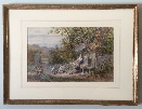 Children in garden.Frame.W.F.Coleman