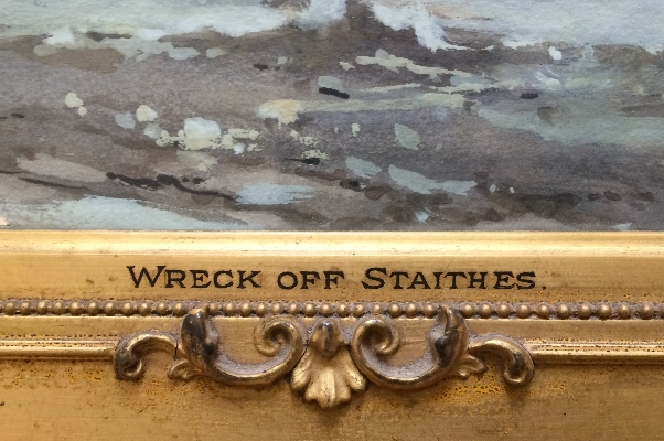 Wreck off Staithes.Frank Wasley.Title.
