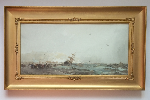Wreck off Staithes.Frank Wasley.Frame.New.