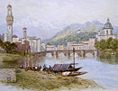 Miles Birket Foster - Florence from the Arno