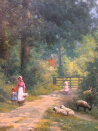 A Summer Lane_surrey_.A.F.de Breanski