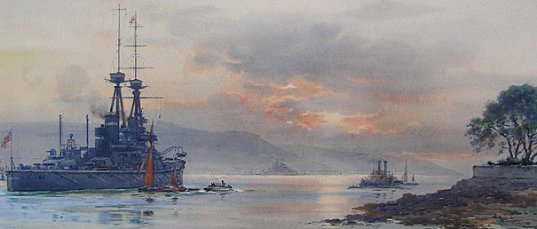 Frank Wood marine painting