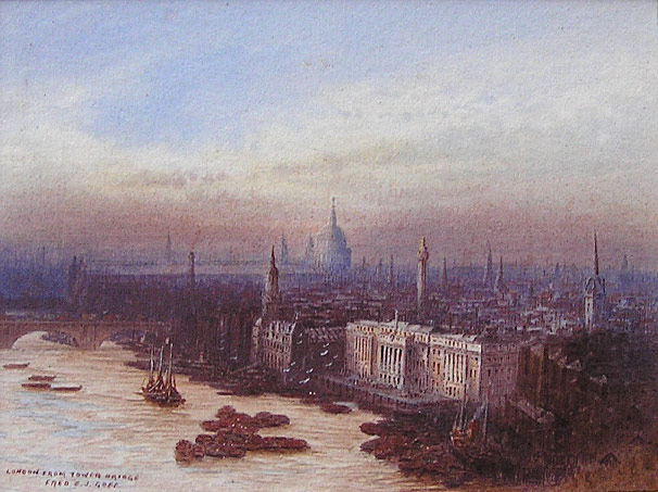 Fred E J Goff - London with St Pauls