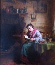 lady reading her letter