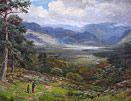 William Lakin Turner - Overlooking Derwentwater