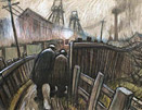 Norman Cornish - 2 Miners on Pit Road