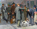Ralph Hedley painting - parting friends