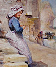 Robert Jobling watercolour the fishermans daughter