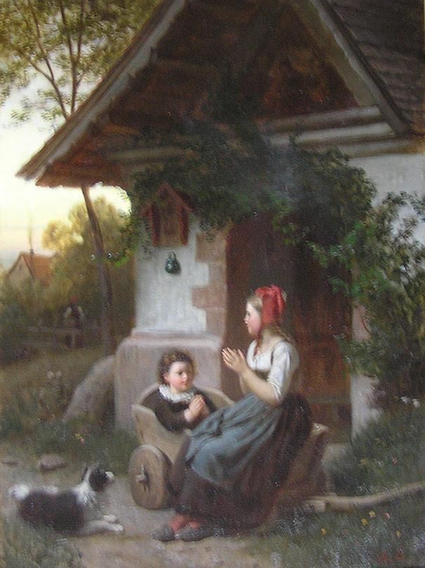 Rudolf Epp 1834 1910 Children At Play For Sale