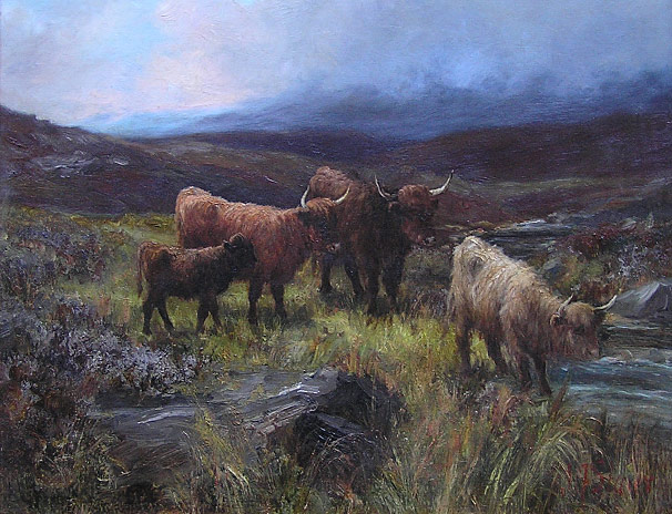 JF Slater - Highland Cattle