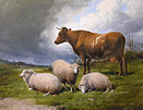 Thomas Sidney Cooper - Cattle Beneath a Brooding Sky