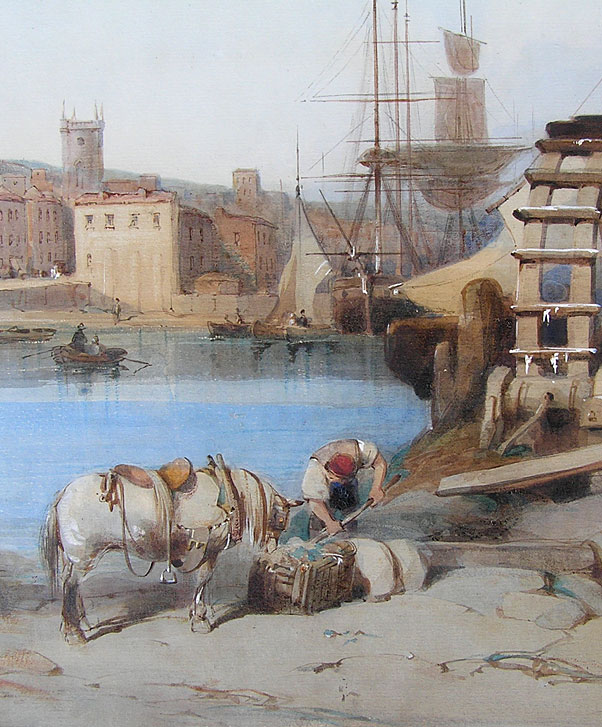 watercolour of Falmouth