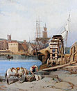 Victorian watercolour of Falmouth
