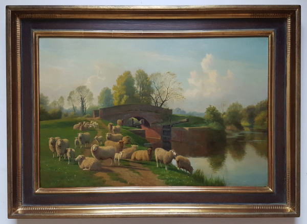 William_Sidney_Cooper_Sheep_Kent_framed